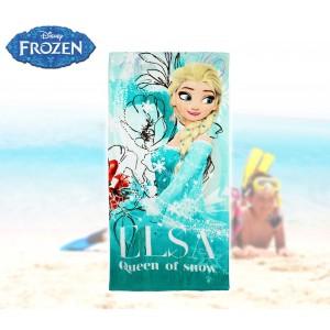 WD16937 Telo mare principessa Elsa Frozen 140 x 70 cm 100% cotone