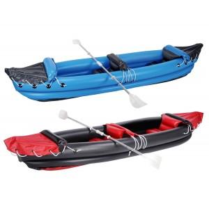 Canoa kayak gonfiabile mare lago fiume 2 posti 320 x 70