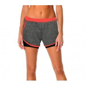 Image of KZ-172 Shorts donna corsa o palestra con pantaloncino contenitivo interno 8000187487634