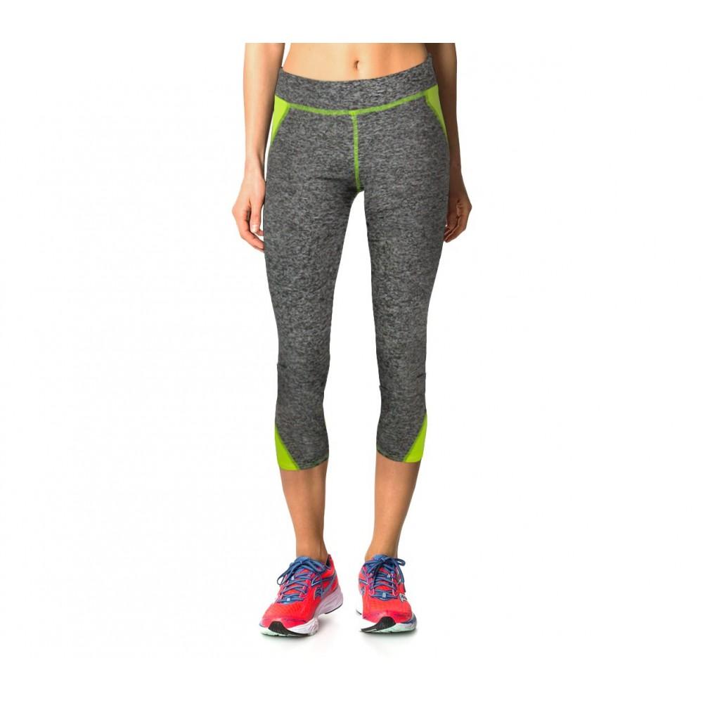 H722 Leggings donna sportivo al polpaccio tessuto tecnico palestra e corsa