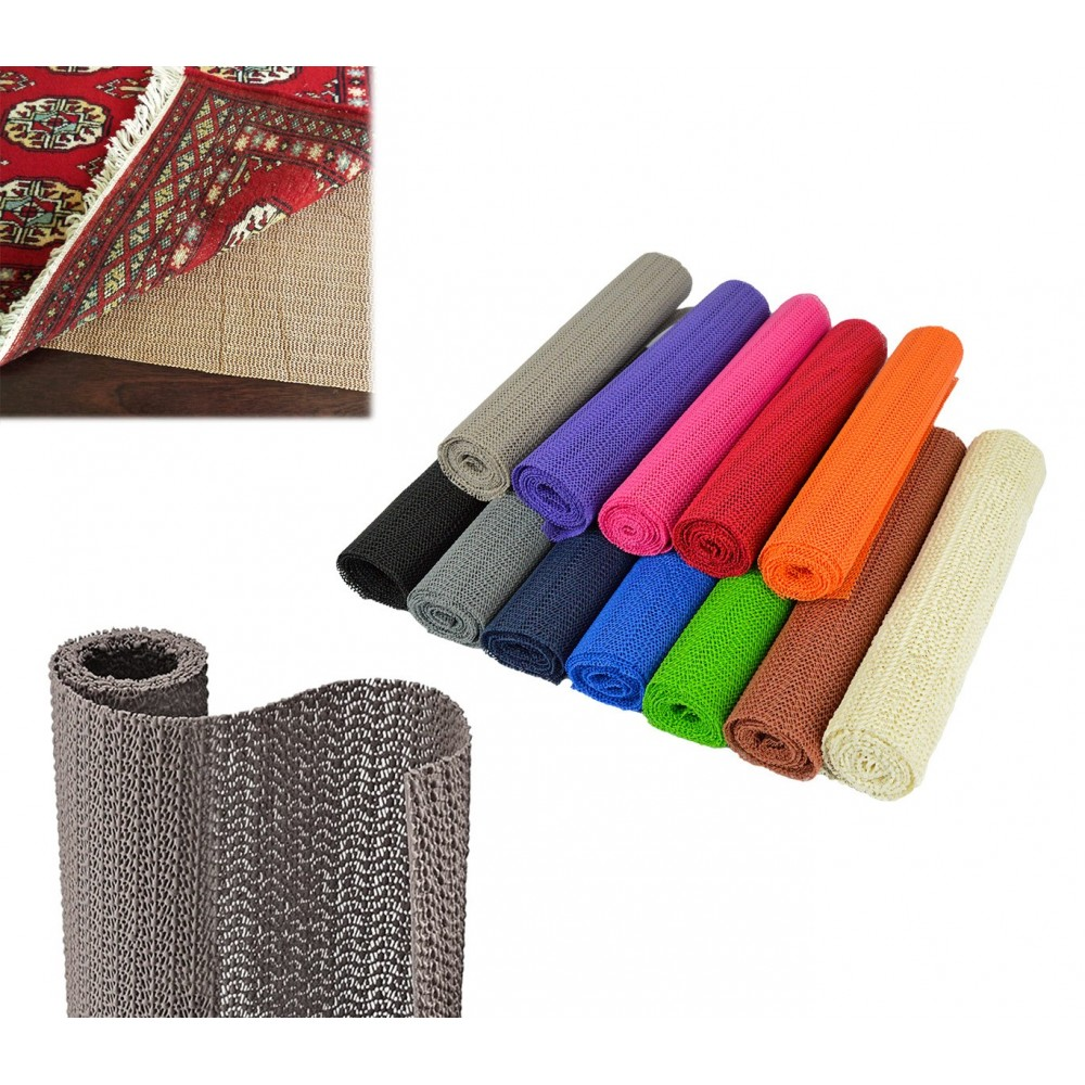 Tappetino antiscivolo multiuso in pvc vari colori grip liner 30 x 150 cm