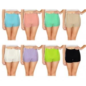 F9337 Shorts donna mod. Nice pantaloncino con zip in morbido tessuto elastico