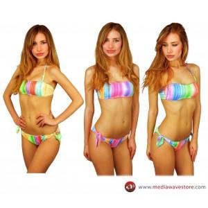 KL211 Costume bikini a fascia mod. Swish brasiliana con coppe imbottite by MWS AHEAD
