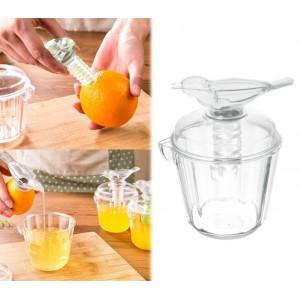 Spremi agrumi di design squeezer bird direttamente dal frutto con applicatore