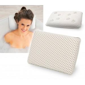 92280 Cuscino poggiatesta per vasca da bagno con ventose impermeabile