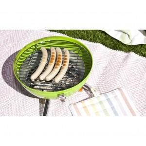 22659 Barbecue da tavolo 30x46 cm BBQ COLLECTION con coperchio e fori areazione