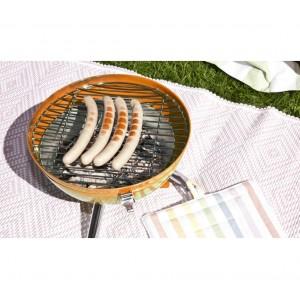 22658 Barbecue da tavolo 30x46 cm BBQ COLLECTION con coperchio e fori areazione