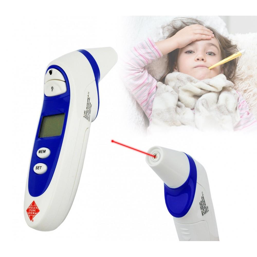 96321 Termometro digitale ad infrarossi Telefunken 4 in 1 per bambini e alimenti