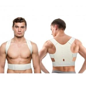 Image of Supporto tutore a fascia con 12 magneti unisex correzione postura schiena spalle 8035478596856
