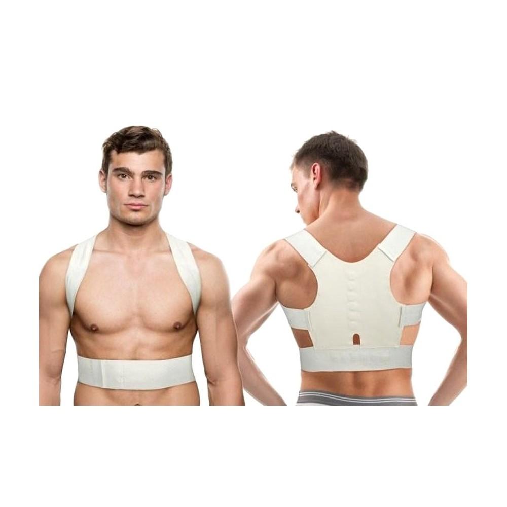 Supporto tutore a fascia con 12 magneti unisex correzione postura schiena spalle