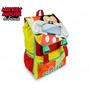 Image of MK16101 Zaino a spalla estensibile scuola Mickey Mouse 41x28,5x20 cm 8086510285436