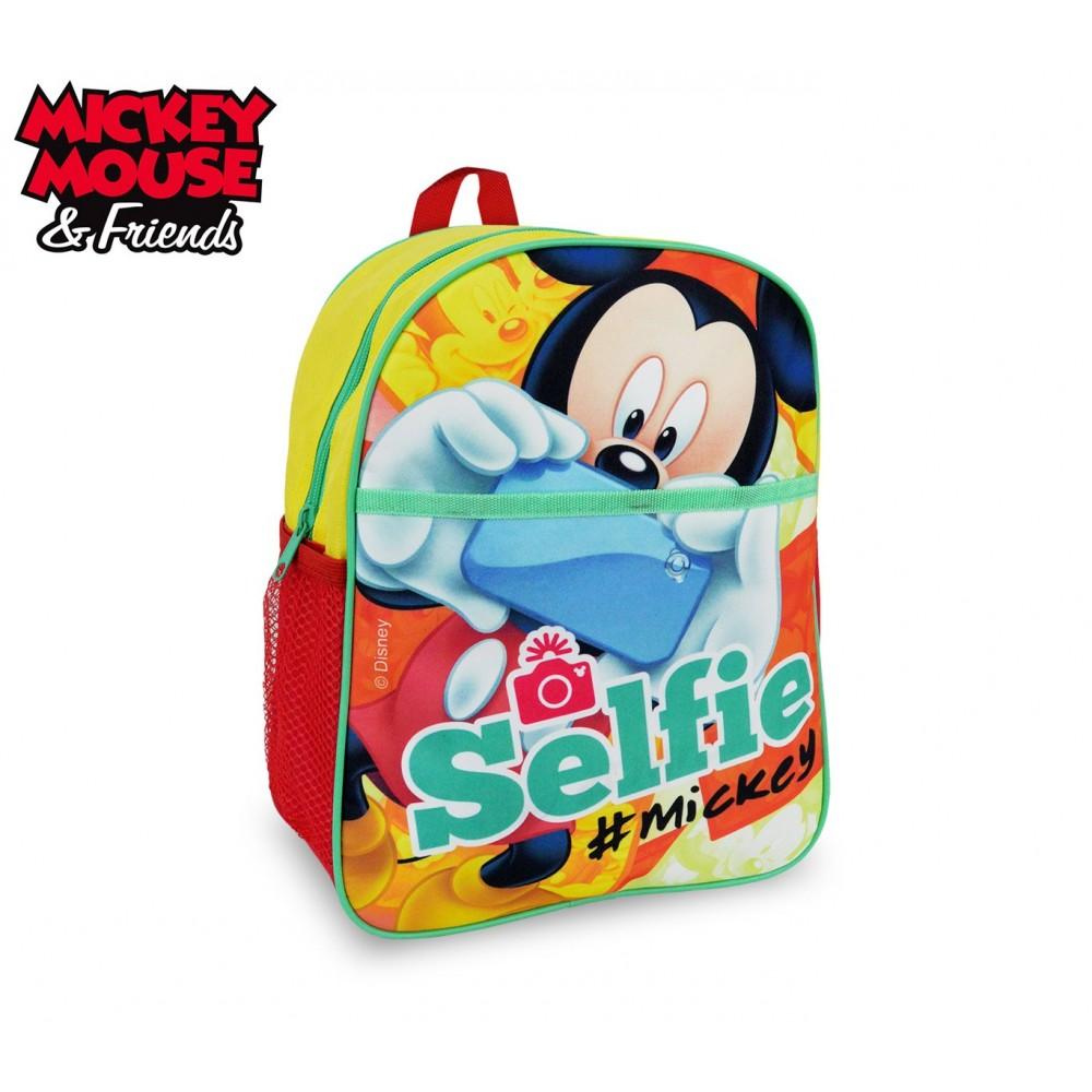 2528589b54 MK16105 Zaino scuola asilo elementari e tempo libero Mickey Mouse 31x25x10  cm