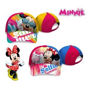 WD16960 Berretto per bambine Minnie Mouse regolabile e con visiera parasole