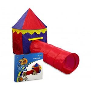 Image of 167830 Tenda da gioco Circo per bambini 260x105x125 cm con tunnel Cigioki 8068418707067