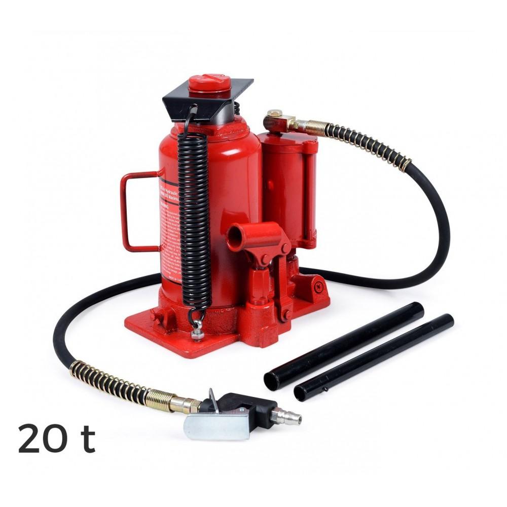 ST-3055 Cric idraulico a bottiglia manuale e ad aria compressa fino a 20 t
