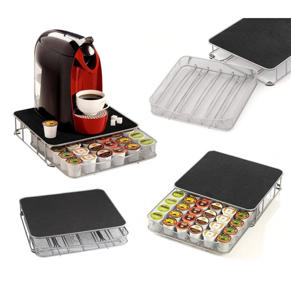 41343 Cassetto porta capsule caffè in metallo dispenser da 30 a 60 posti