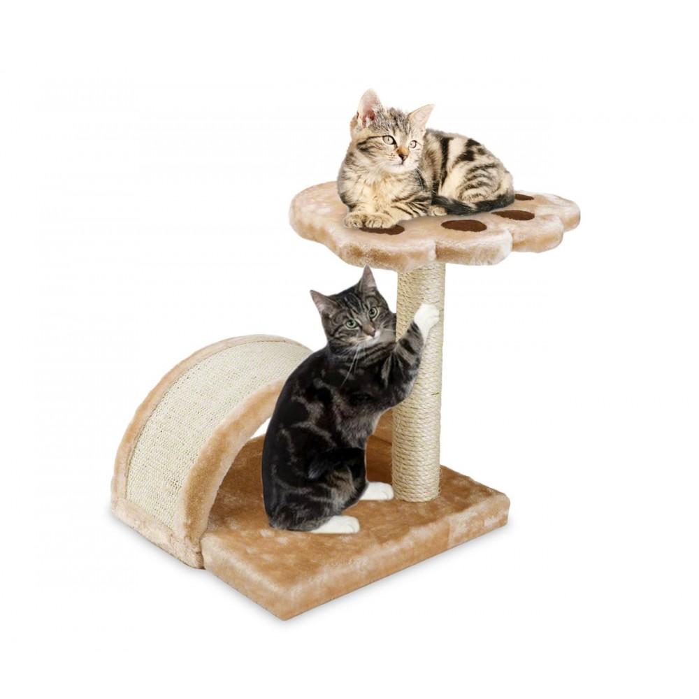 HK1074 Palestra con tiragraffi per gatti con colonna in sisal e ripiano