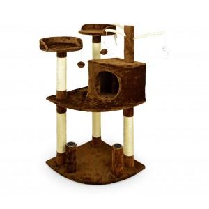 HK1015 Palestra tiragraffi per gatti con cuccetta e colonne in sisal