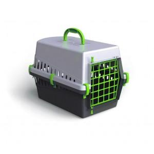 Image of 10570 Trasportino con griglia in plastica per cani e gatti da viaggio 50 cm 8060857421108
