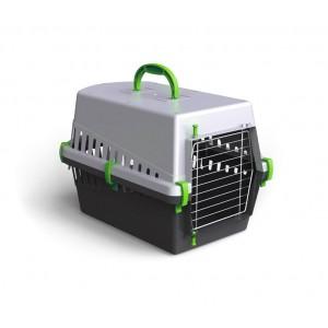 Image of 10571 Trasportino con griglia in metallo per cani e gatti da viaggio 50 cm 8096450769200