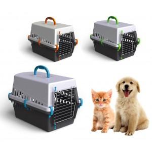 10570 Trasportino con griglia in plastica per cani e gatti da viaggio 50 cm