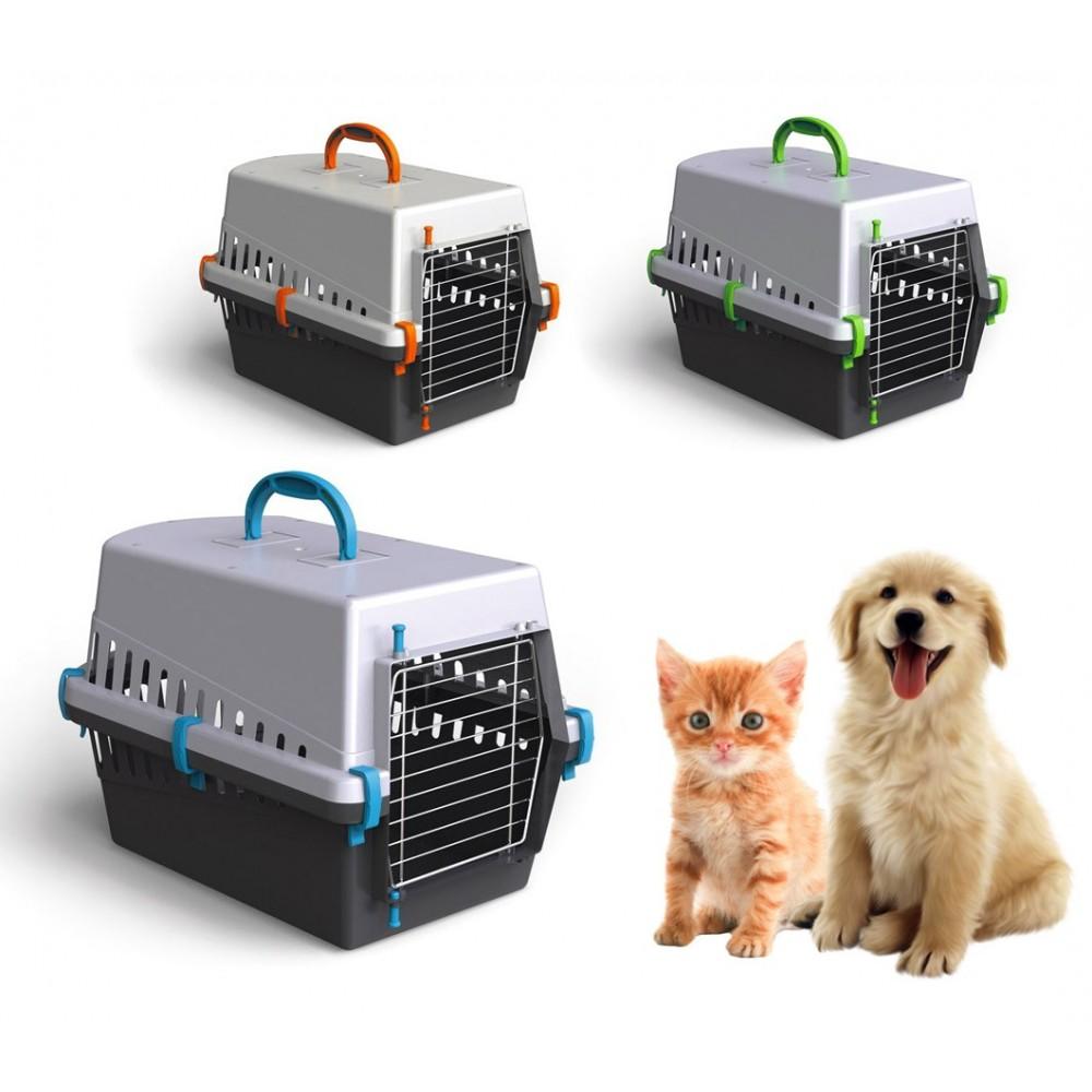 10571 Trasportino con griglia in metallo per cani e gatti da viaggio 50 cm
