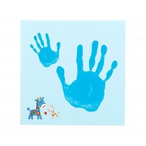 Image of 15951 Kit per impronta mani con tela in canvas per bambini 25 x 25 x 1,8 cm 8031226974822