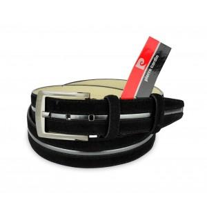 R003 Cintura regolabile uomo Pierre Cardin in pelle di camoscio