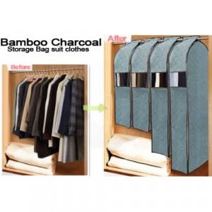 Image of Organizzatore armadio porta abiti Porta abiti da viaggio BAMBOO CHARCOAL 8435524507810