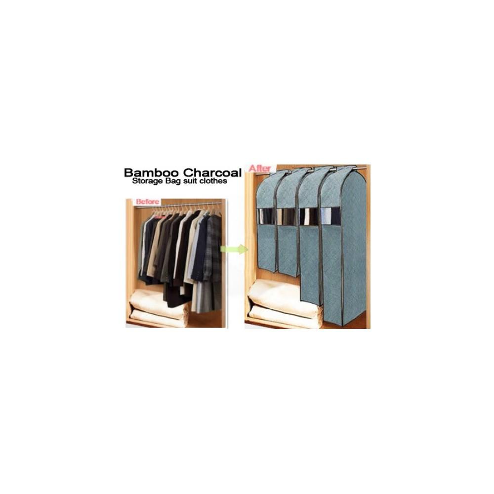 Organizzatore armadio porta abiti Porta abiti da viaggio BAMBOO CHARCOAL