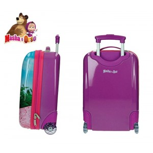 4731151 Trolley bagaglio a mano rigido  Masha e Orso  30x48x20 cm