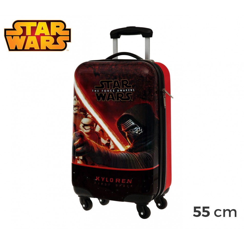 4641451 Trolley bagaglio a mano rigido in ABS Star Wars 55x33x20 cm