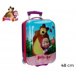 4731151 Trolley bagaglio da cabina in ABS rigido Masha e Orso 48x30x18 cm