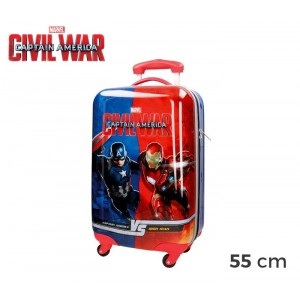 4721451 Trolley bagaglio a mano rigido Capitan America Civil War 55 x 33 x 20 cm