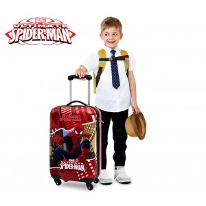 4451451 Trolley bagaglio a mano rigido  Spiderman in ABS  55x33x20cm