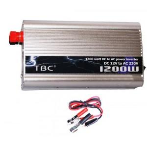 Image of Inverter 1200 watt 12v 220v ac presa auto viaggio barca camper 8435524505205