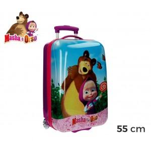 4731251 Trolley bagaglio da cabina in ABS rigido Masha e Orso 55 x 33 x 23 cm