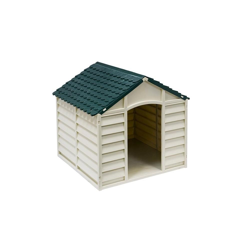 056882 Cuccia a forma di casetta in resina per cani big size 78x85x80 cm Verde