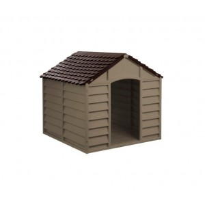 000167 Cuccia a forma di casetta in resina per cani 71 x 71.5 x 68cm