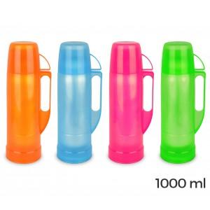 14018 Thermos per bevande welkhome rivestito in plastica colorata 1000 ml
