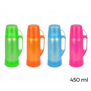 2020 Thermos per bevande welkhome rivestito in plastica colorata 450 ml
