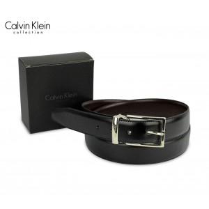 CK014 Cintura da uomo in vera pelle CALVIN KLEIN nera taglia 110/125