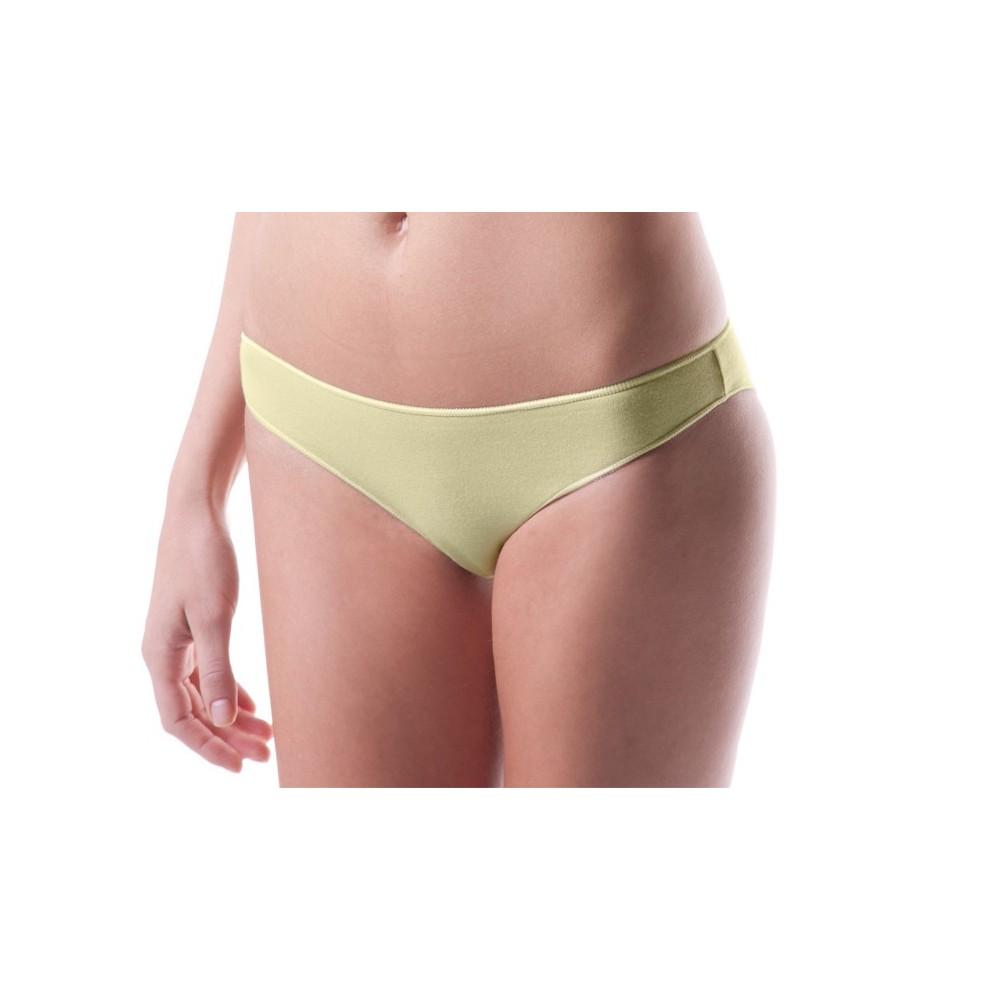 F6247 Pack di 12 slip in cotone modello brasiliana intimo donna ass. COLOR