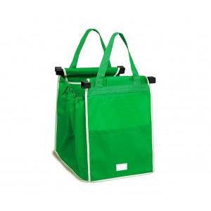 0381 Set 2 shopping bag da carrello riutilizzabili e richiudibili 34x24x30cm