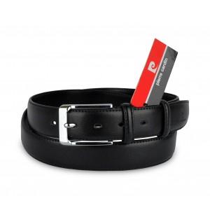 HY01304 Cintura da uomo Pierre Cardin in pelle fibbia in acciaio e due passanti