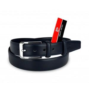 Image of HY01304 Cintura da uomo Pierre Cardin in pelle fibbia in acciaio e due passanti 6912020704155