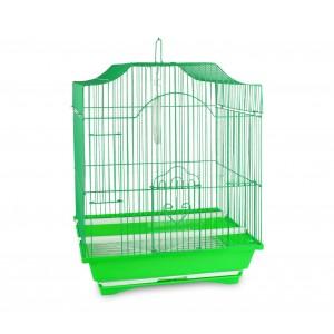 Gabbia in stile classico per uccelli di piccole dimensioni mangiatoie incluse
