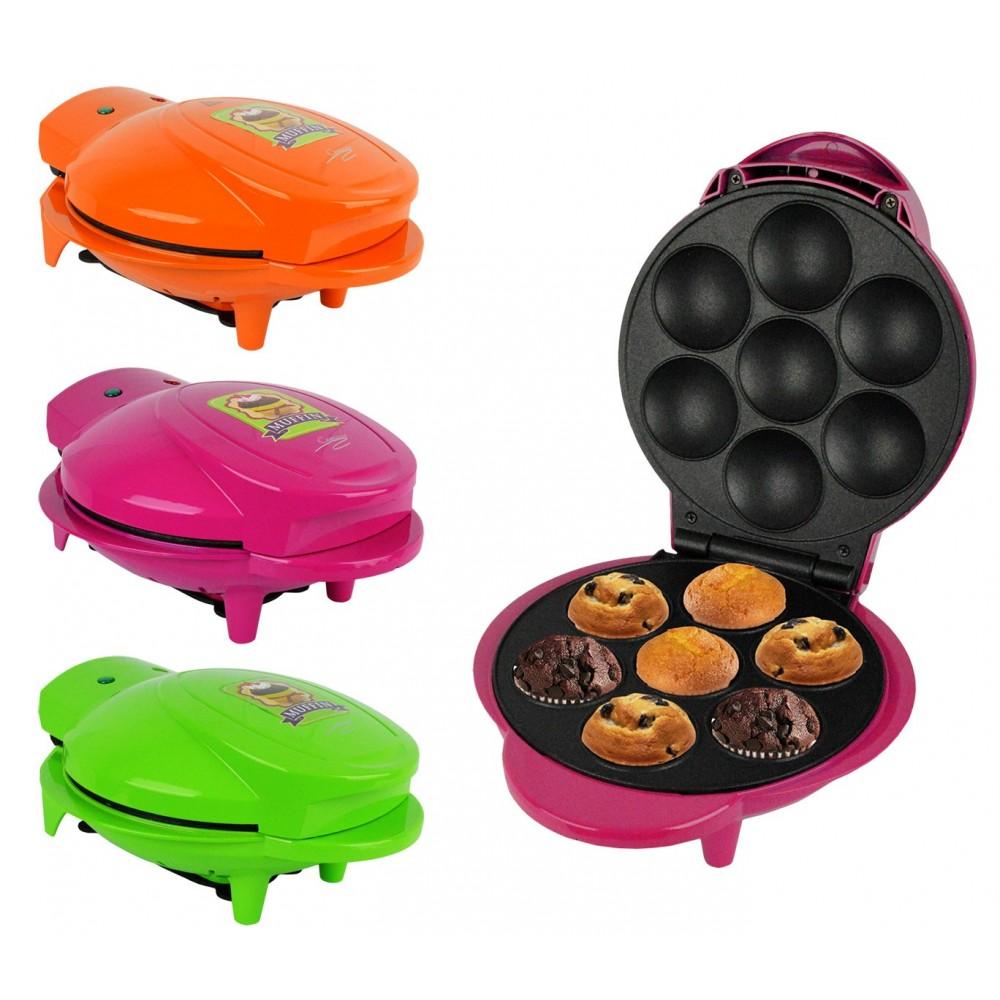 621400 Piastra antiaderente per mini muffin 7 posti in tre colori 1000W