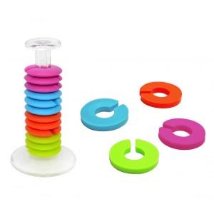 1268 Set 12 anelli segnabicchiere in silicone colorato ideali per feste