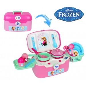 Image of 087039 Cofanetto cucina richiudibile 2 in 1 Frozen con 18 accessori inclusi 6932774118978